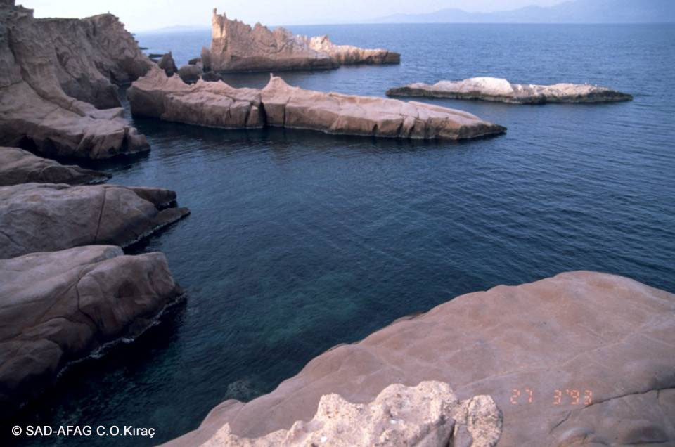 Foça, Orak Island, Siren rocks ©1993 SAD-AFAG C.O.Kıraç